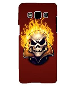 ColourCraft Burning Skull Design Back Case Cover for SAMSUNG GALAXY A3