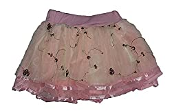 Wise Guys Party Wear Designer Skirt for Baby Girls - Baby Pink (3-6 Months)