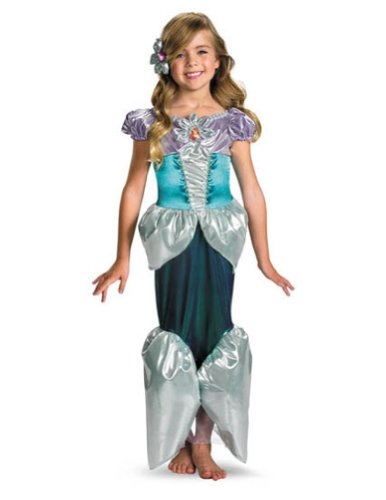 Baby-toddler-costume Ariel Lame Toddler Costume Deluxe 3t-4t Halloween Costume