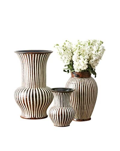 Set of 3 Corrola Vases