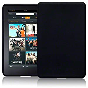 Amazon Kindle Fire Tablet Silicone Skin Case / Cover / Shell - Black