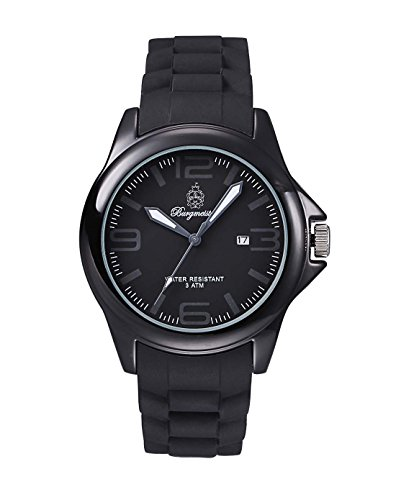 Burgmeister Fun Time Women's Quartz Watch with Black Dial Analogue Display and Black Silicone Strap BM166-622