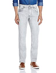 People Men's Slim Fit Jeans (8907496032374_P10102129366257_36W X 33L_Grey and White)