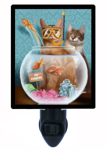 Cat Night Light - No Fishing - Fish Bowl front-1007155