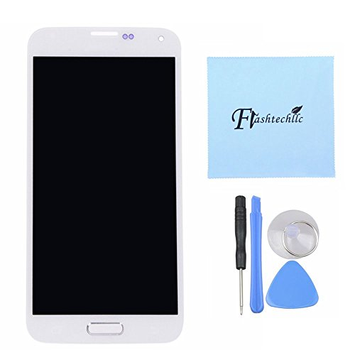 White Lcd Screen Touch Digitizer + Home Flex For Samsung Galaxy S5 I9600 G900A