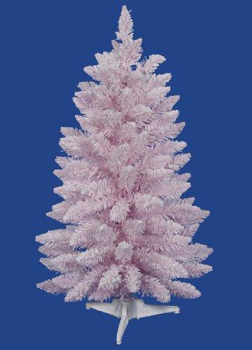 Flocked Cupcake Pink Artificial Spruce Christmas Tree   Unlit