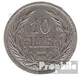Hungría km-No.. : 482 1893 muy ya Nickel 1893 10 Filler corona (monedas para los coleccionistas)