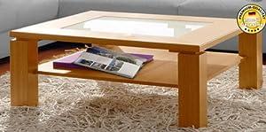 couchtisch wohnzimmertisch mit glaseinsatz buche. Black Bedroom Furniture Sets. Home Design Ideas