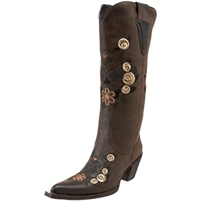 Roper Women's Dawn Western Knee-High Boot,Brown,5 M US