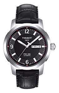 Tissot Men's T0144301605700 PRC 200 Black Day Date Dial Watch