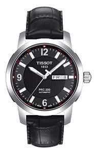 Tissot Men's T0144301605700 PRC 200 Black Day Date Dial Watch