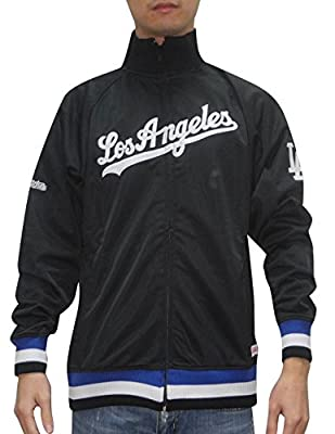MLB Los Angeles Dodgers Mens Zip-Up Track Jacket with Embroidered Logo