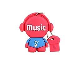 Music Maniac 32GB U-disk Data Storage Memory Stick (Red)