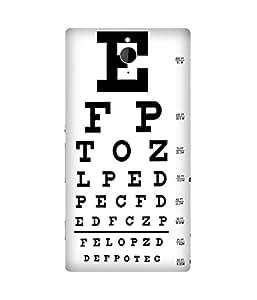 Eye Test Chart Sony Xperia Z2 Case