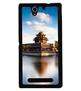 PRINTSWAG PALACE Designer Back Cover Case for SONY XPERIA C3