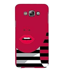 Sexi Lips Lipstick 3D Hard Polycarbonate Designer Back Case Cover for Samsung Galaxy E5 :: Samsung Galaxy E5 E500F (2015)