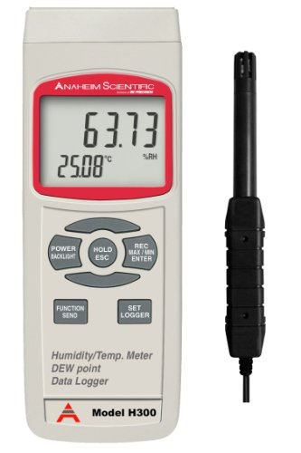 Anaheim Scientific H300 Humidity and Temperature Meter with Dew Point and Data Logger - 1