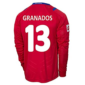 Buy Lotto GRANADOS #13 Costa Rica Home Jersey World Cup 2014 (Long Sleeve) by Lotto