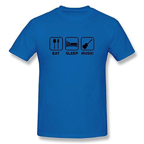 Boy Tshirt Fashion Eat Sleep Music Royalblue Preshrunk front-532418