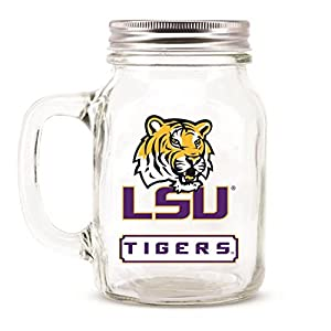 Lsu Tigers Ncaa Mason Jar Glass With Lid from DUCK HOUSE