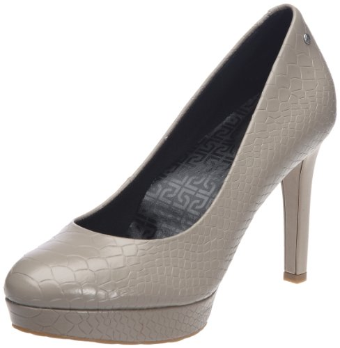 Rockport Women's Janae Pump Cobblestone Grey Platforms Heels K61364 7 UK