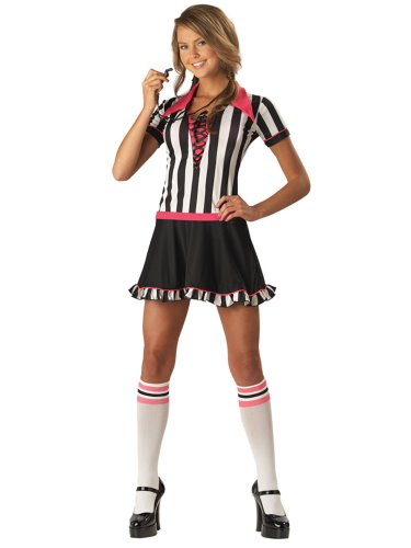 Teen Referee Costume Ref Atheletic Sports Costume