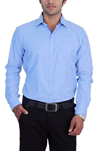25th R 100% Cotton Solid Plain Slim Fit Formal Shirts For Men
