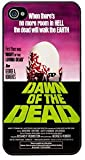Dawn Of The Dead Vintage Movie Film Poster Cover/Case For iPhone 4/4S-Black