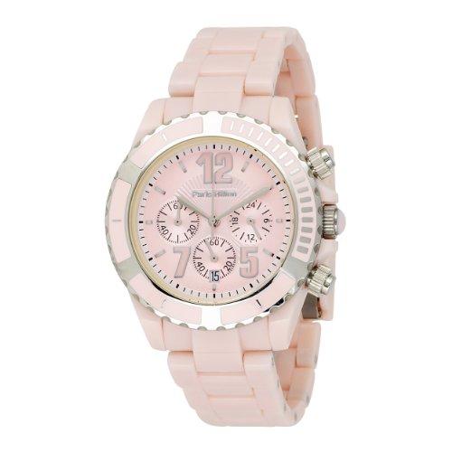 Paris Hilton Women's 138.4322.99 Chronograph Pink Dial Watch