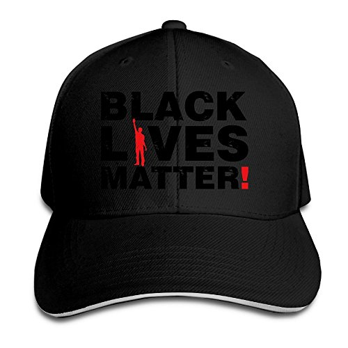 Runy Black Lives Matter Adjustable Sandwich Hunting Peak Hat & Cap Black (Louis Vuitton Cap compare prices)