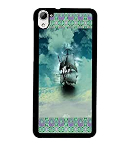 PrintDhaba Ship D-4597 Back Case Cover for HTC DESIRE 826 (Multi-Coloured)