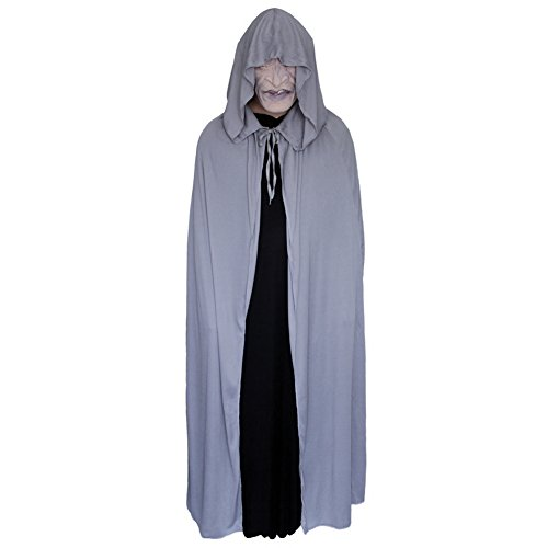 "54"" Gray Cloak with Large Hood ~ Halloween Costume Cape (STC11571)"