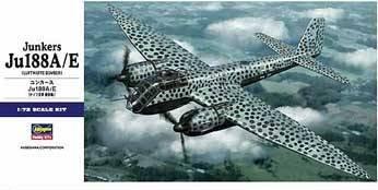 Junkers Ju188A/E Luftwaffe Bomber 1/72 Hasegawa