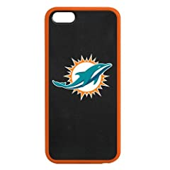 Miami Dolphins iPhone 5 5s Hardshell +TPU Fusion Case with Gel Bumper - Tribeca by Tribeca