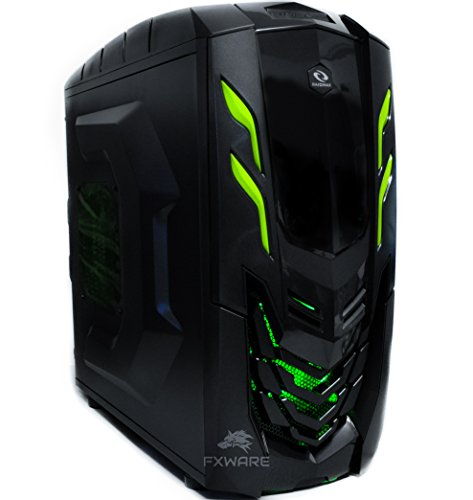 Fxware Viper Custom Gaming PC Desktop Computer System 4.0 ghz Quad Core 1tb HDD 16gb Ram HDMI Windows 10 Green (Gaming Custom Pc compare prices)