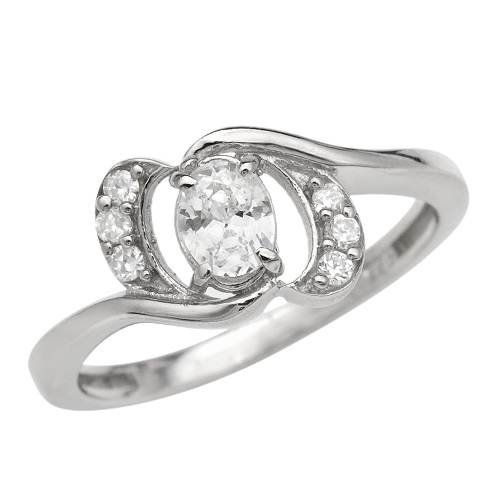 Ring With 1.50ctw Cubic zirconia Made in 925 Sterling silver (Size 6)