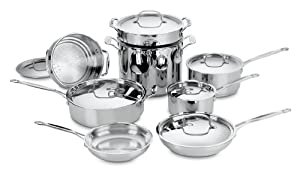 Cuisinart 77-14 Chef's Classic Stainless 14-Piece Cookware Set by Cuisinart