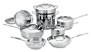 Cuisinart 77-14 Chef's Classic Stainless 14-Piece Cookware