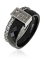 ART DE France Anillo Faceted (Negro)