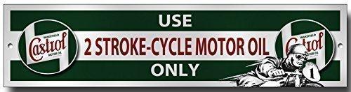 castrol-usage-2-cycle-de-course-huile-seulement-metal-panneau-de-garage
