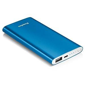 EasyAcc Metall 5000mAh Externer Akku Ultra-Slim PowerBank Tragbare Ladegerät für Smartphones - Mazarine Blau