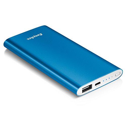 EasyAcc 5000mAhスリム ボータブル アルミニウム モバイルバッテリー iPhone6、iPhone5S、5C、5、Samsung Galaxy Google Glass HTC Android/ 各種スマホ カラー:ブルー