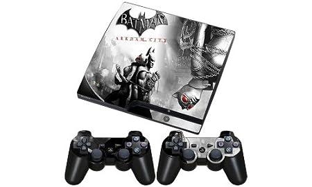 SkinGizmos Batman Arkham City Vinyl Adhesive Decal Skin for Playstation 3 Slim