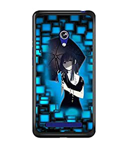 PrintDhaba Umbrella Girl D-3542 Back Case Cover for ASUS ZENFONE 5 A501CG (Multi-Coloured)