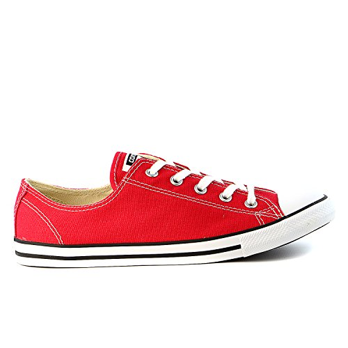 CONVERSE Chuck Taylor Dainty Ox Sneaker Shoe - Red - Womens - 8