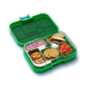 yumbox leakproof bento lunch box container pomme green t for ki. Black Bedroom Furniture Sets. Home Design Ideas