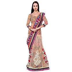 Suchi Fashion Multi Brasso And Net Embroidered Traditional Festival Sarees