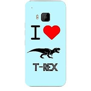 Skin4gadgets I love T-Rex Colour - Light Blue Phone Skin for HTC ONE M9