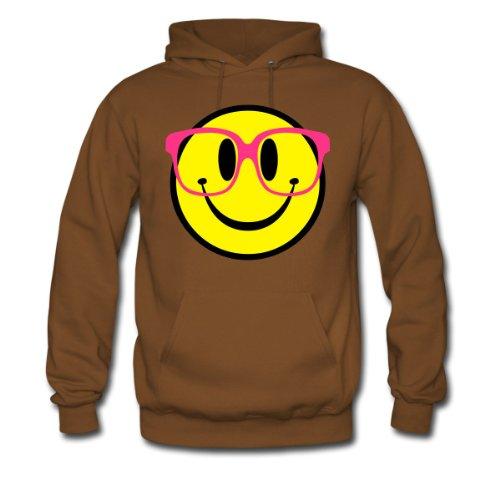 Spreadshirt, Geek Smiley, Men's Hoodie, brown, XXL