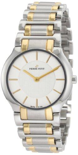 Pierre Petit P-799G - Reloj analógico de cuarzo para mujer con correa de acero inoxidable, color multicolor